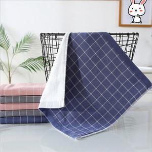Kinder Baumwolltuch 34 * 34cm Weiche Wiederverwendbare Lätzchen Platz Handtücher aus 100% Baumwolle Grid Infant Waschlappen abwischen