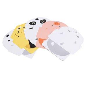 25pcs Panda animaux Folding porc Foxes Tigre Carte d'anniversaire voeux / message carte postale de Noël Nouvel An cadeau universel