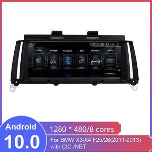 car for BMW X3 F25 BMW X4 F26 CIC NBT 10.25 inch Android car GPS multimedia system MTK Core 4G internet 64G storage WIFI Carplay