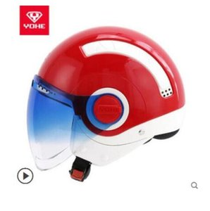 YOHE YH mini-A helmet electric motorcycle motorcycle men and women half helmet winter personality cool 6