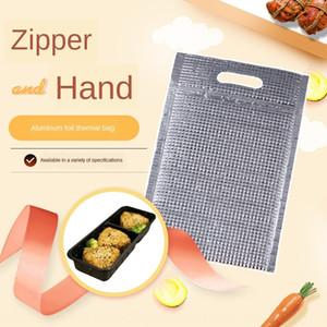 zBJop Nova auto-selagem de alumínio mais espessa folha saco isolamento portátil isolamento descartável fast food zíper zipper rápido refrigeração de alimentos