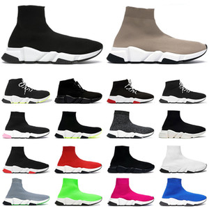 2020 sock shoes speed trainer men women sneakers triple Black Red White Beige Pink Clearsole mens fashion casual tennis shoe jogging walking