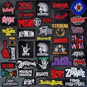 Personalizar Parches BANDA bricolaje Telas bordado de la música punk Applique del remiendo de planchado Ropa fuentes de costura Pin decorativos Parches