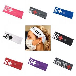 Krankenschwester Stirnband Scrunchie mit Maske Schnalle Mode Bandaux Haare Krawatte Elastische Haarbänder Haarschmuck Männer Dame 4 77JY C2