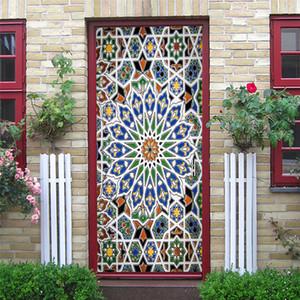 Landscape Wallpaper Door Adhesive Waterproof Poster Wall Painting Decal Home Room Decoration Stixon Door Sticker Poster