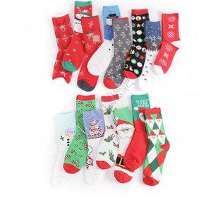 Noel Çorap Noel Santa Kardan Adam Kar tanesi Pamuk Çorap Kadın Erkek Orta Düzey Uzun Çorap Çorap Orta buzağı Uzun Çorap Çorap D82009
