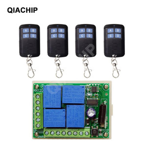 QIACHIP 433Mhz DC 12V Universal Wireless RF Remote Control 4CH Relay Radio Receiver Module And Smart Remote Controls Transmitter