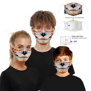 Cara nueva al por mayor de la máscara Máscaras Máscaras deportes al aire libre del cráneo del partido de Halloween cosplay cara reutilizable polvo caliente máscara a prueba de viento Parte festiva de algodón