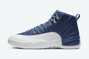 Синего Jordon 12 Индиго обувь дешевая продажа с обувью Box нового университета Gold баскетбольного магазин оптовой us7-US13