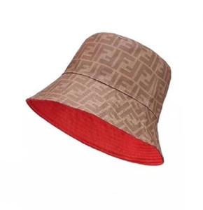 chapéu de alta qualidade Moda cor Pure viagem Homens e mulheres design clássico Letter Balde chapéus 2 Cor bar dos Pescadores chapéu sspring