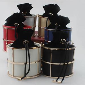 Tasarımcı-Davul Çanta Moda Kumaş Akşam Çanta Marka Tüp Çanta Namlu Çanta Hollow Kesim Bez Çanta Şık Ziyafet Bag - Cool L8300