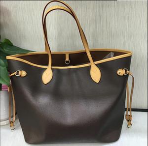 cüzdan omuz alışveriş çantası L Harf NEVERFUL Deri Çanta Beyaz Baskı Çanta ile 2020 Toptan moda markası NEVERFUL MM GM