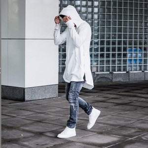 Envmenst 2020 Hoodies Automne Plein manches Kangourou Side Zippers Pocket Streetwear Hip Hop Pull hommes Sudaderas Hombre