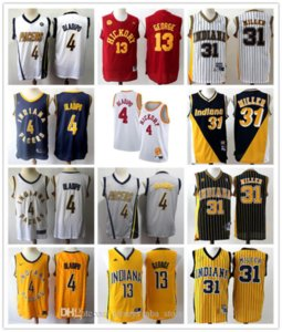 2020 Reggie IndianaPacers Basketball Maillots 31 Miller Retro Or Red 4 Victor Oladipo 13 George Reggie Miller Vancouver Jersey