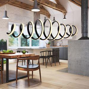 Современные подвесные светильники Luminaria Nordic Acrylic Black LED Подвесной светильник для гостиной Лофт Крытый Home Decor Люстра светотехника