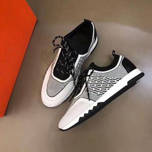 Hermes 2020 Yeni H Sneakers En Mischpalette Moda Erkekler Rahat Rahat Düz ayakkabı yüksek ayakkabılar Z01