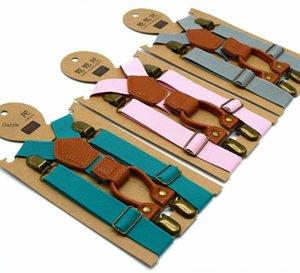 couleur qualité pour enfants haut bébé solide élastique jarretelle Sling Sling clip pantalon pendaison clip 4 jarretelle jidS1