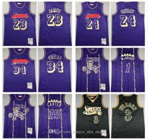 23 James Carter 15 3 Iverson de Filadelfia76ersLakersmagiarapacesVintage Mitchell Ness Jersey Baloncesto 04
