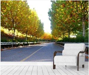 WDBH 3d wallpaer photo personnalisé décor moderne salle de séjour fond paysage rue sycomore maison peintures murales 3d fond d'écran pour les murs 3d
