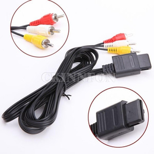 200Pcs Lot 1.8m 6FT AV TV 3RCA 3 rca Video Cord Cable For Game cube for SNES GameCube for Nintendo for N64 64