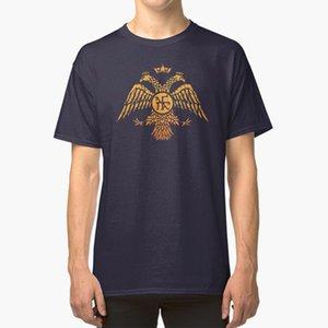 Byzantinisches Eagle-Symbol-Flagge Shirt byzantinischen Byzanz römische Adler Headed 2 Geier Wappen Reich Symbol