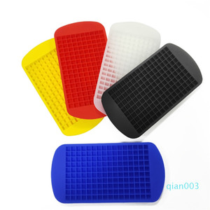 160 Grids DIY Creative Small Ice Cube Mold Square Shape Silicone Ice Tray Fruit Ice Cube Maker Bar Kitchen Accessories Wholesale DBC BH3744