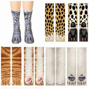 3D Animal Print Socks Adult Children Funny Cotton Socks Kawaii Cute Animal Paw Sock Fashion High Ankle Socks For Girl Boy LXL694 1 Spo hA6B#