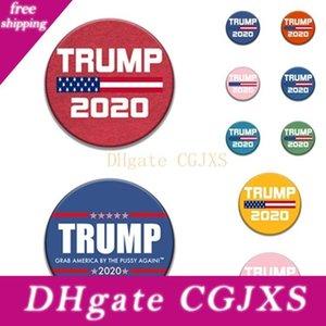 Mode 9style Trump Badge commémoratif PINS Broches 2020 Fournitures Élection américaine Trump Party Drapeau Badge nous offre T2i5962 -2