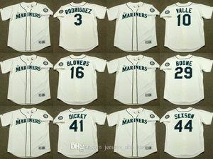 Seattle 3 ALEX RODRIGUEZ 10 Dave Valle Mike Blowers 16 29 41 BRETT BOONE R. A. Jersey DICKEY 44 Richie Sexson béisbol