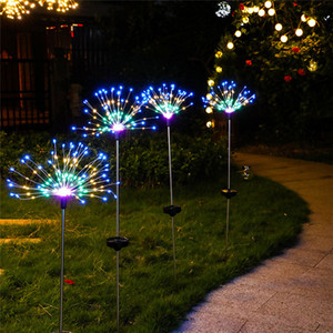 Wholesale 180 LEDs Outdoor LED Solar Fireworks Lights Waterproof String Fairy Light For Home Garden Street Christmas Decoration