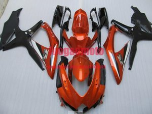 Kit moto carénages Pour Suzuki noir GSXR600-750 orange, K8 2008 2009 2010 08 09 10 11 GSXR600 GSXR750 ABS Kits de corps d'injection Carrosserie
