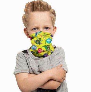 Cara de dibujos animados niños Máscara niños Pañuelo creativo Cinta protectora al aire libre bufanda mágica niños del diseñador boca cara cubierta 29 Estilos EWA882