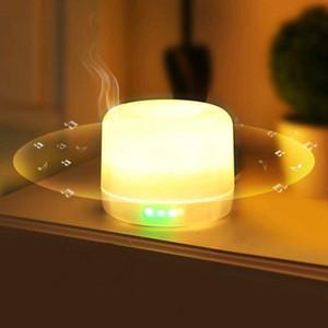 Fragancia luz de la noche la lámpara del altavoz Blutooth Wireless Mini USB humidificador de aire cargable dormitorio LED de colores de luz regulable