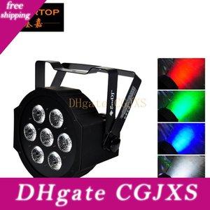 Tiptop Mega Hexad Par 7 di X 12W lattine Rgbw piatto LED PAR 3pin XLR DMX OUT Connettore A / disegno semplice di Big Lens Smooth Dimmer