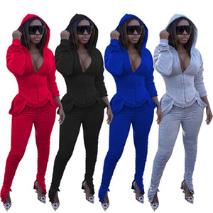 Women clothing hooded hoodies outfits two piece set shirr s-2xl jacket Leggings tracksuits casual Fall Winter jogging suits streetwear 3884