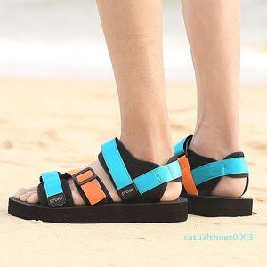 YOUYEDIAN 2019 Men Sandals Mixed Color Flat Shoes Summer Beach Sandals Men Thick Bottom Casual Shoes Sandale Homme c03