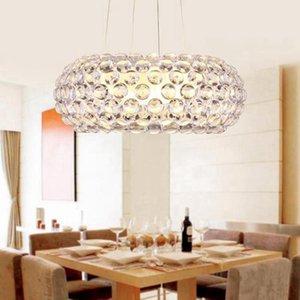 Pendiente moderna de cristal Lámpara colgante de luz cocina fixtrue salón comedor a la lámpara de techo nórdica sala de iluminación de la lámpara colgante