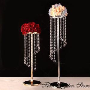 10PCS Décoration de mariage Jardinière piliers de mariage Aisle cristal Walkway stand Party Mariage Centerpiece
