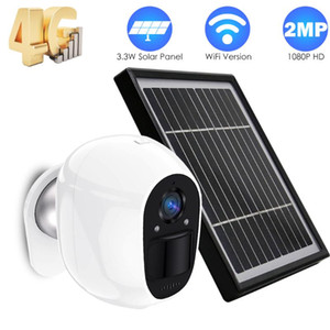 4G SIM Card IP Camera WiFi Solar Panel Home Security Camera Outdoor Wire-Free Battery Power CCTV PIR Alarm Remote Cotrol