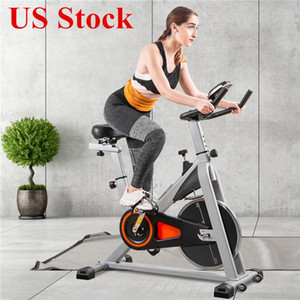 US-Stock-Indoor Cycling Bike Ultra Quiet Indoor Bike Gürtel Glatter Heimtrainer mit Aufmaß Soft-Sattel und LCD-Monitor MS192377AAE Driven