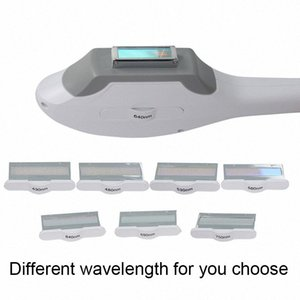 Top qualité Ipl Elight 7 Filtres Handpiece différents Wavelength 430nm 480nm 530nm 560nm 640nm 690nm 750nm PZxj #