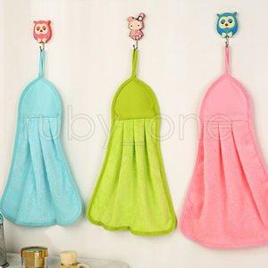 Кухня очистка Полотно инструменты Hangable 3 цвета Soft Удобного полотенце для рук Strong Абсорбента Прочные износостойкие Clean Rag RRA3500