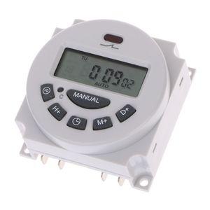 DC12V AC220V numérique LCD programmable hebdomadaire Time Switch Relay Timer électronique