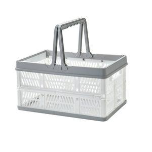 Продукты питания Фрукты хранения супермаркета Складные портативные Рукоятки корзина с