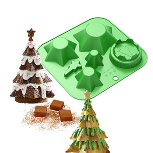 Silicone Baking Tray Christmas Tree Bakeware Non-stick Mold For Baking Bread Breadstick Biscuit Chocolate Bakery Cake Mold Tools