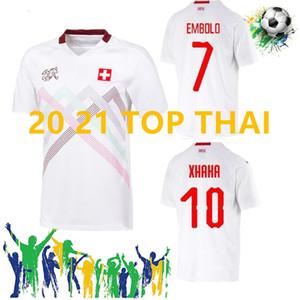 2020 camisetas de fútbol de Suiza Seferovic blancos ausentes 2021 Suiza ELVEDI Akanji Zakaria Rodríguez ELVEDI del equipo nacional de fútbol camisas