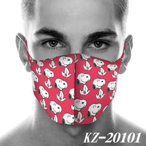2020 nuova maschera progettista faccia di stampa del fumetto Snoopy maschere per il viso alla polvere mascherina del fumetto 2D World Fashion Maschere Cosplay maschera riutilizzabile