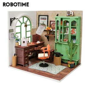 ستوديو بيت الدمية وصول Robotime جديد DIY جيمي مع مصغرة أثاث الأطفال الكبار دمية خشبية مجموعات لعبة DGM07 CX200815