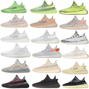 De calidad superior 2020 Kanye West lino Cinder los zapatos corrientes de luz de la cola Desert Sage Israfil Oreo azufre Asriel Marsh Hombres Mujeres Zapatos Adidas yeezy