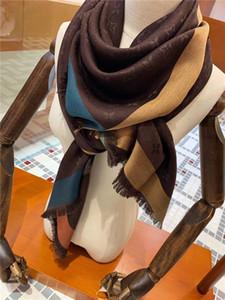 140-140cm Beliebte Marke Mode für Männer und Frauen klassische 100% Seide Wolle Schals Designer-Schal Luxuxschals; 1lGg Schal 1l
